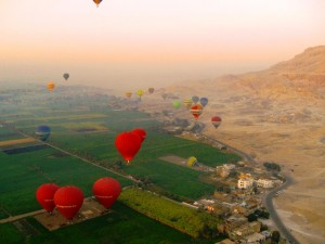 Floating over Luxor