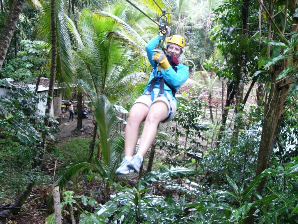 Ziplining In St Lucia Flying Over The Tropical