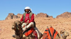 A camel wrangler in Petra