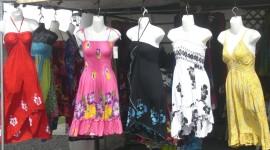 Aloha wear at a Kaua'i street market