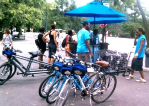 Central Park bike rentals at Tavern on the Green