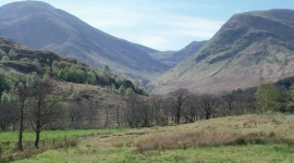 Looking up Glen Nevis