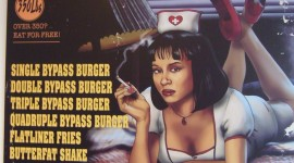 Heart Attack Grill Poster doesn't Promote Health Food