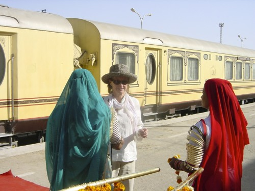Traditional welcome in Jaisalmer (Credit: MCArnott)