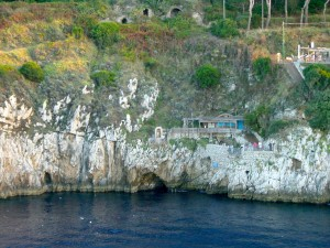 View of the Entrance of the Blue Grotto from the Cruise Ship (Credit: MCArnott)