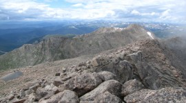 The Summit of Colorado's 14,264-foot Mt. Evans
