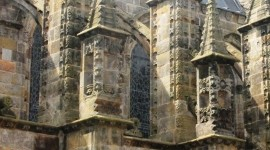 Butresses at Rosslyn Chapel