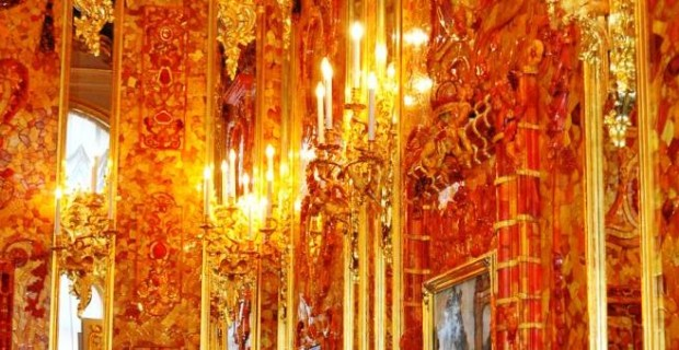 Catherine Palace Amber Room in Pushkin