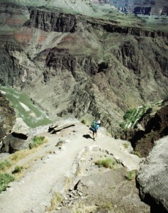 Hiking into the Grand Canyon on the South Kaibab Trail