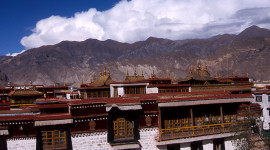 Jokhang Temple in Lhasa, dates from the 7th century. (photo credit: Katherine Rodeghier, c 2012)