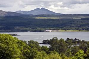 View from the Isle of Eriska summit (Stillman Rogers photo 2012)