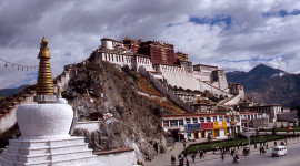 The Potala Palace is the former residence of the Dalai Lamas and a UNESCO World Heritage Site. (photo credit: Katherine Rodeghier, c 2012)