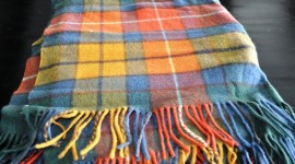Scottish plaid shawl