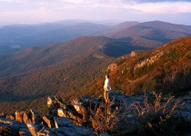 Enjoying the view from atop Stony Man in Shenandoah National Park. (photo credit: Katherine Rodeghier, c 2012)