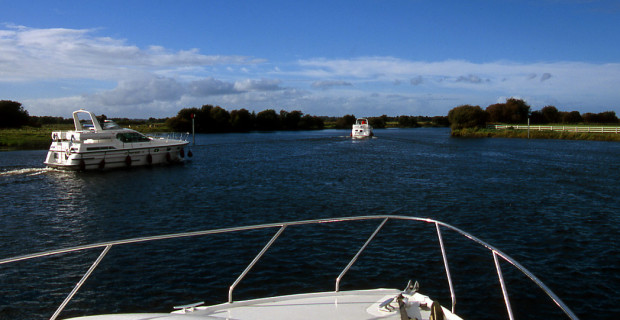 Pleasure boats navigate the River Shannon through the Midlands of Ireland. (photo credit: Katherine Rodeghier, c 2012)