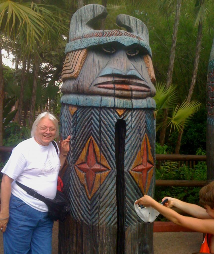 Mom in Adventureland in Disney's Animal Kingdom