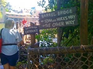 On Tom Sawyer Island in the Magic Kingdom