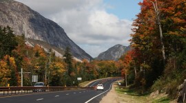 Interstate parkway I-93 Franconia Notch New Hampshire