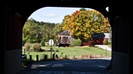 Cresson Covered Bridge in Swanzey, NH (Stillman Rogers Photo)