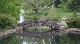 Geyser Lake at Spring Grove Cemetery and Arboretum