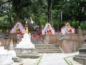 The Steps to Swayambhunath, Kathmandu, Nepal