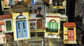 Miniature Greek doors are original souvenirs.