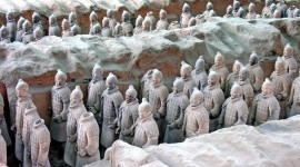 The First View of China's Terra Cotta Warriors in Pit One. (Photo Credit: Dennis Jarvis)