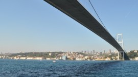 Bridge from Europe to Asia in Istambul