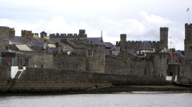 Caernarfon Castle from the sea