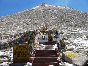 Chang La mountain pass in Ladakh, India