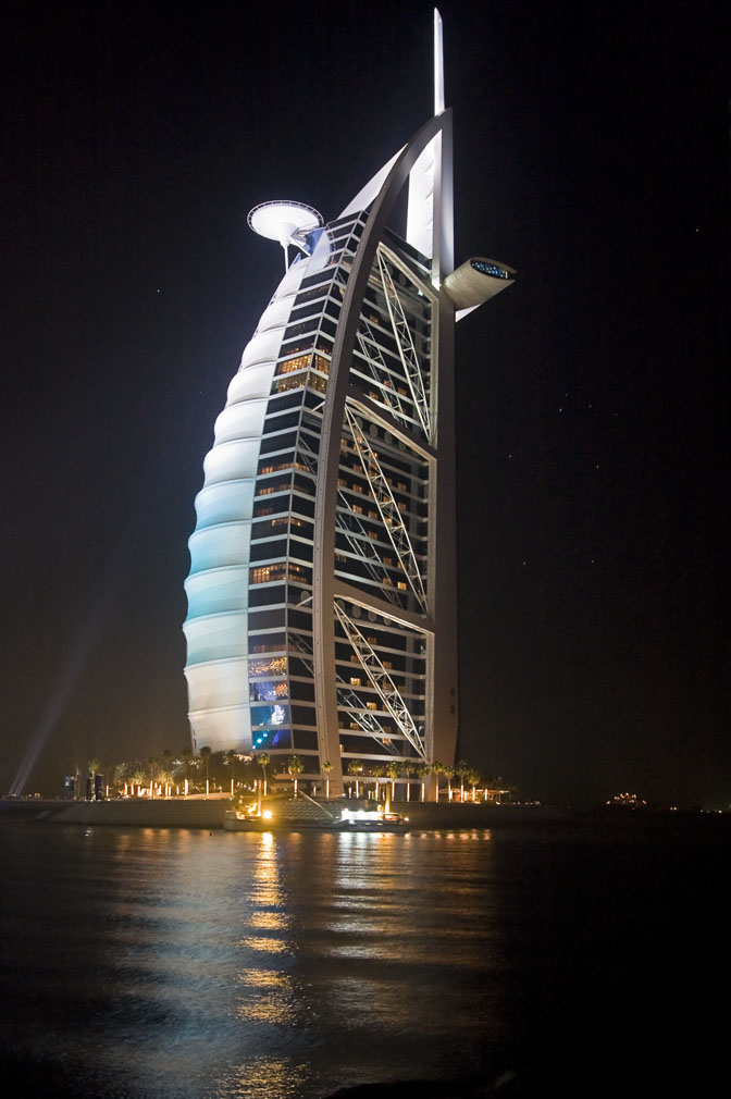 The burj at night buckettripper for Burj al arab per night