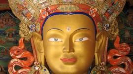 Maitreya Buddha Statue in Thikse Gompa, Ladakh, India