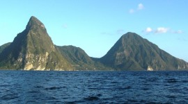 Sailing past the Pitons, St. Lucia