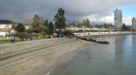 The beginning of the Centennial Seawall in Dundarave