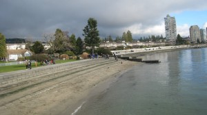 Where the seawall begins in Dundarave on Vancouver North Shore (Credit: MCArnott)