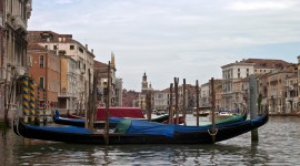 Gondolas on the Grand Canal Venice