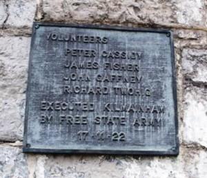 Kilmainham plaque