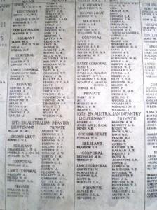 Names of the missing, the Menin Gate