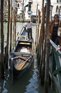 Traghetto goldola on the Grand Canal, Venice