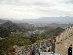 The view from the top stretches into the distance towards Beijing (Ann Burnett)