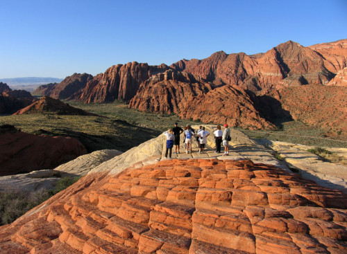 Red rock hiking Utah