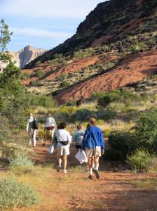 Red rock hikes Utah