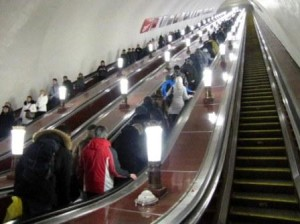 A Preposterously Long Escalator to the World (courtesy of Emma Gallagher)