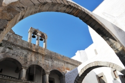 The arches of St. John's Monastery on Patmos