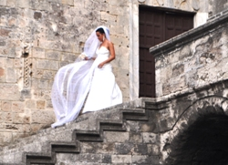 Bride in Rhodes