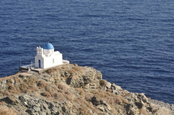 A Church on Sifnos. Isolated settings give time and space for contemplation and prayer.