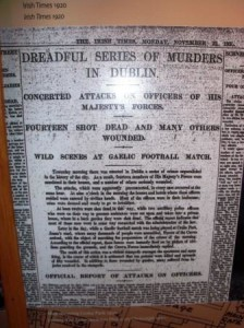 Reproduction of a report on 'Bloody Sunday', Croke park museum