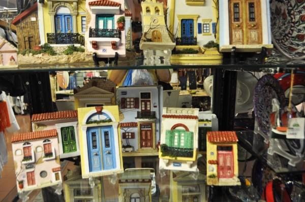 Souvenirs of Symi's multi-colored doors.