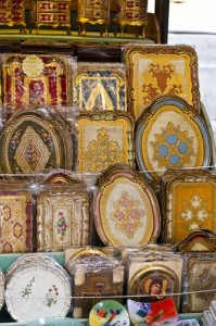 Florentine gilded trays (Photo copyright Stillman Rogers Photography)