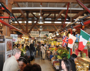 Find multi-ethnic food at Granville Island Market downtown Vancouver (Photo credit: MCArnott)